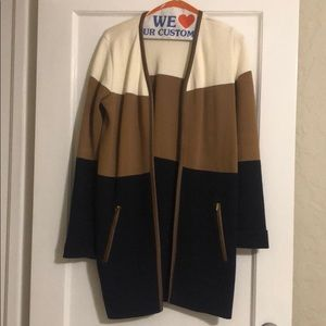 Charter Club Colorblock Open Sweater